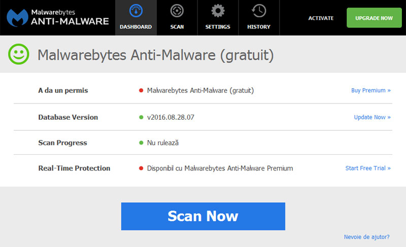 Program devirusare - Malwarebytes Anti-Malware